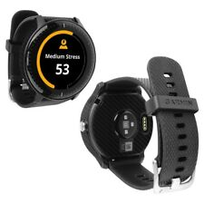 Skinomi Black Carbon Fiber Skin+Screen Protector for Garmin Vivoactive 3 Music