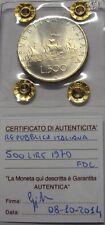 ITALIA REPUBBLICA 1970 500 LIRE CARAVELLE DA DIVISIONALE ZECCA FDC SIGILLATA
