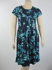 Best Collection Ladies Cap Sleeve Dress sizes 10 14 16 Colour Navy Floral Print