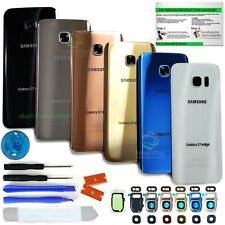 Back Glass Replacement Kit for Samsung Galaxy S7/S7 Edge w.Tools+Lens+IP68 Tape