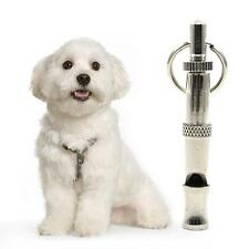 Silver Pet Dog Training Obedience Whistle Ultrasonic Sound Adjustable w/Key Ring