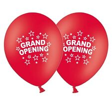 "Grand Opening 12"" Printed Latex Red Balloons New Shop Store Business  Pack of 5"