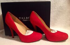 Talbots,Women's,8.5 Medium,Red Pumps,Shoes,New,High heel,NWB