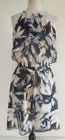 WITCHERY Greys/White Floral Dress Size10