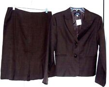 Giorgio Sant' Angelo Skirt Suit-10,brown   Great styling!   NWT