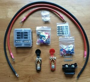 12v Camper van 6 Blade Fuse Box 1m Cable Kit ( With Battery Terminals )