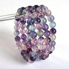 "8mm Fashion  Multi-color Fluorite round gemstone beads stretchable bracelet 7.5"""
