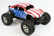 Custom Buggy Body American Flag for HPI Savage Flux HP 1/8 VW Baja Beetle Shell