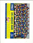 10 1961 Los Angeles Rams Falstaff beer football team card