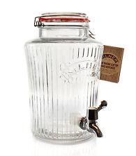 Getränkespender mit Zapfhahn 5 Liter Spender Kilner aus Glas Bügelverschluss   3