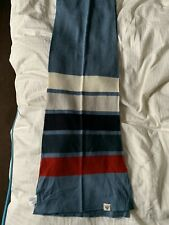 John Smedley Bar Striped Scarf Scarves Mod Pure New Wool