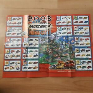 2003 Double Sided  MatchBox Hero City & Harry Potter Chamber Of Secrets Poster