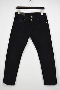 DONDUP MUSIC Men's W32 L29 Dark Blue Button Fly Corduroy Trousers 32881-GS