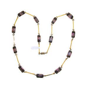"Avventurina and ""Wedding cake"" design Glass Beads Necklace - Murano - (0213)"