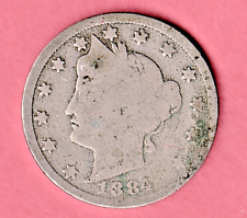1884 Liberty Nickel in GOOD  condition ~ PLEASE SEE THE SCAN   stk A