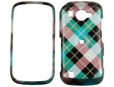 Solid Plastic Phone Cover Blue Diagonal Checkers For Samsung Omnia 2 i920