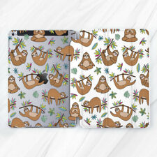 For iPad Pro 9.7 10.5 11 12.9 Air Mini 3 5 Flower Sloth Floral Animal Smart Case