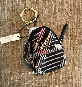 Vera Bradley SOFIA PLAID Micro Backpack Charm Keychain Streeterville NWT $38