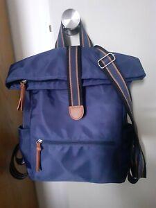Ladies navy blue nylon backpack