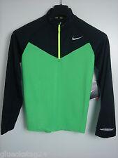 Nike DriFit Element Halfzip Laufjacke Kids M 140 bis 152 NEU grün Laufshirt
