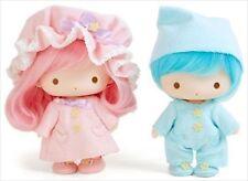 Little Twin Stars Soft Vinyl Doll Set Pajama Sanrio Kiki Lala Japan F/S NEW