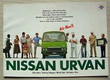 NISSAN URVAN Range Commercial Vehicles Sales Brochure c1980 #T05E 80-12-2000