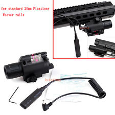 Tactical Red Laser Sight Flashlight Combo for 20mm Weaver Picatinny Rail Rifle