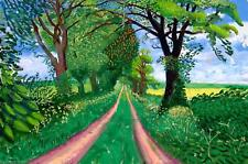 "David Hockney Late spring tunnel  Canvas Wall Art ""24x38"""