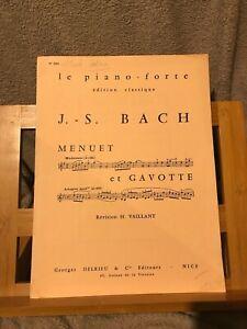 J.-S. Bach Menuet et Gavotte partition piano H. Vaillant éd. Delrieu