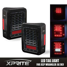 Xprite Replacement Assembly LED Tail Light Conversion Kit Set For Jeep Wrangler