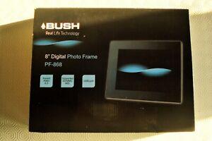 "BUSH PF-868 8"" DIGITAL PHOTO FRAME BRAND NEW IN BOX"