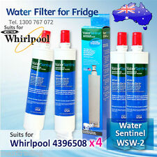 4X Water Sentinel WSW-2 Replacement Fridge Filter for Whirlpool 4396508