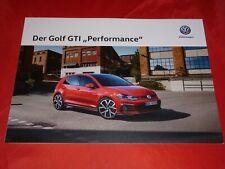 VW Golf VII GTI Performance Prospekt Brochure Depliant von 2019