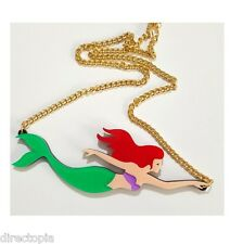 Mermaid Pendant Necklace Kitsch On Point Fashion Sailor Nautical