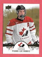 2016-17 Pierre-Luc Dubois Upper Deck Team Canada Juniors Gold #86 - Blue Jackets