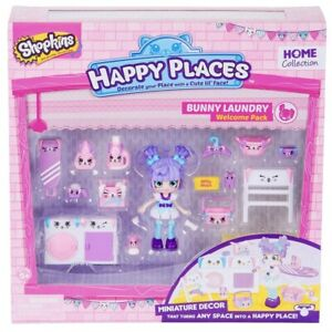 SHOPKINS HAPPY PLACES Home Collection Bunny Laundry Milly Mops doll