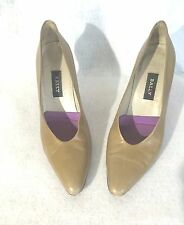 """BALLY Womens Pumps Heels Shoes Size 8.5 Tan Italy Soft Leather 3"""" Heels"""