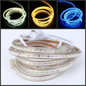 LED Strip 220V 240V Waterproof 3014 120led SMD Rope Garden Decking Kitchen Light