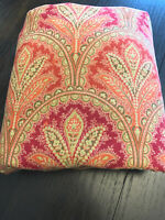 Pottery Barn Marcelle Paisley Red Cotton Linen Full/Queen Duvet Cover