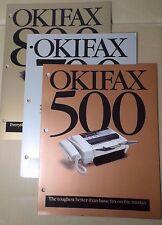 Okidata OKIFAX 500 700 800 Color Advertising Folders