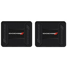 New 2pc Dodge Elite Racing Stripes Logo Rear Heavy Duty Rubber Floor Mats Set