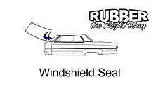 1963 - 1991 Jeep Gladiator / J-100 / Cherokee / Wagoneer Windshield Seal