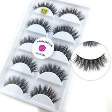 5 Pairs Luxurious 100% Real Mink Fur 3D False Eyelashes Natural Long Eye Lashes