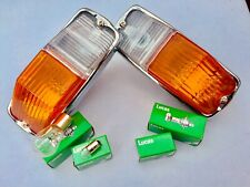 2 AMBER FLASHER LIGHTS for TRIUMPH Spitfire 4 Mk I 1962-64 replace Lucas L594