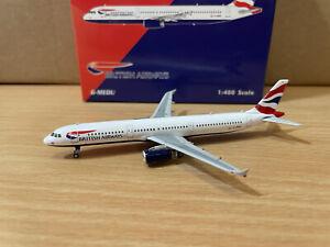 British Airways A321 1:400 (Reg G-MEDU) PH04288 Phoenix
