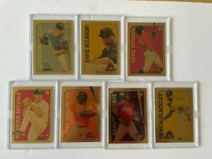 7 Extremely Rare Australian Baseball Cards, Secret Set - Only 10 made per player