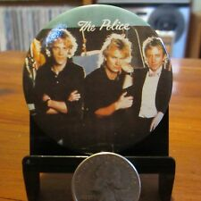 """Police (Classic Rock Band; Sting); Vintage 2"""" Pinback Button; c1984; Ex/Nm"""