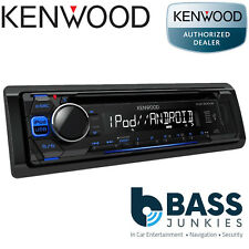 Kenwood KDC-200UB Single Din CD AUX USB iPhone iPod Car Stereo Blue Display