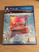 Singstar Celebration (Sony PlayStation 4, 2017) PS4 Playlink Free Shipping