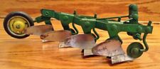 Vintage 1950s 1960s Ertl John Deere 4 Bottom Plow with 3-Point Hitch 1/16 scale